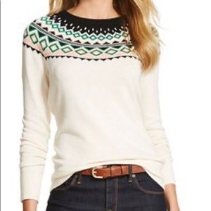 Cream fair isle Sweater Merona